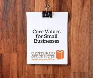 Core values for small businesses